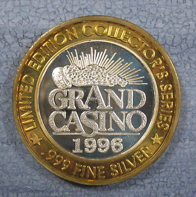 1996 Grand Casino Silver $10 GamingToken CA-42