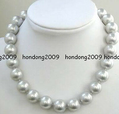 """long 12mm South Sea Gray Shell pearl necklace 24"""""""