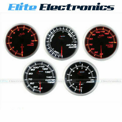 Race Tech 60Mm Voltage Tachometer Gauge Amber Led + Free Gauge Holder