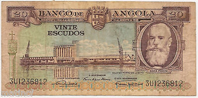1956 Bank of Angola 20 Escudos (( Must See! ))