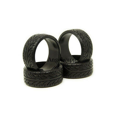 4PCS Hard Rubber Tires HPI Drift Tyre RC Car Racing speed 1/10 ON Road 26mm 9015