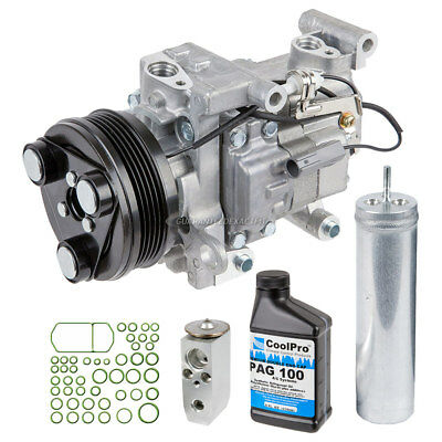 New AC Compressor & Clutch With Complete A/C Repair Kit Fits Mazda 3 & 5