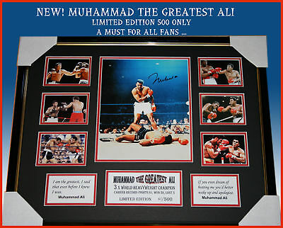 Final Offer!!  Muhammad Ali The Greatest Signed Framed Limited Edition 500