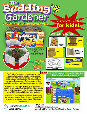 Budding Gardener Interactive Childrens Gardening Kit
