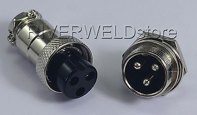 3pins Socket Connector Aviation Plug 16-3P Male+ Female Metal self locking,1Set