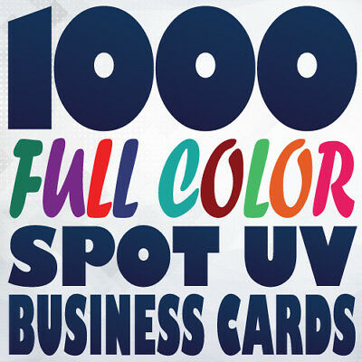 1000 Full Color 16pt SPOT UV BUSINESS CARD Printing Gloss and Matte on same side
