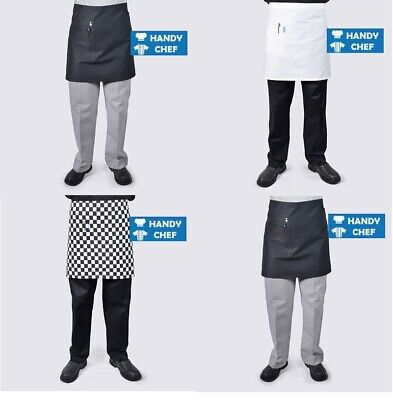 Chef Aprons Half Waist with Pocket- Black or White - .., see handychef for chef