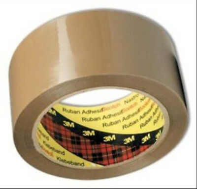 36 x Parcel Tape Rolls 48mm x 66m Scotch 3M Brown Packaging Packing Adhesive