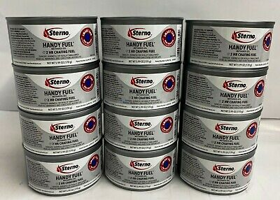Handy Fuel Brand Chafing Sterno Heat 2 Hour 7 oz x 12 Cans