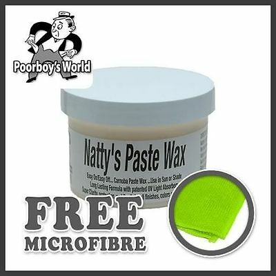 Poor Boys Nattys Paste Wax 8oz PB-NP08 & Microfibre