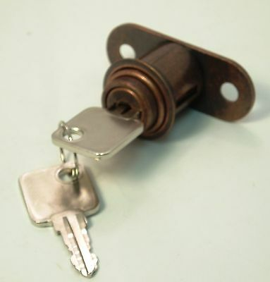 Push Lock for Furniture and Cabinet with Keys #102 -  QTY 1 = 2 LOCKS FOR $1.00