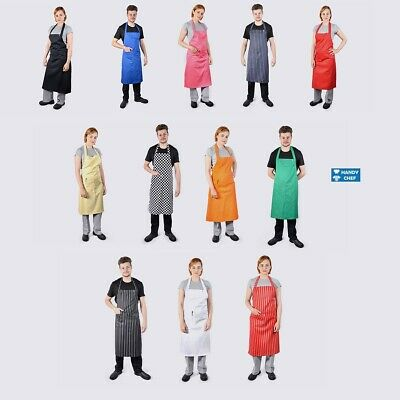 Chef Bib Aprons with Pocket -10 Value Pack - See HandyChef for Chef Pants,Jacket