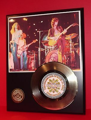 LED ZEPPELIN ART 24k GOLD RECORD MEMORABIIA LIMITED EDITION OFFICE WALL DECOR