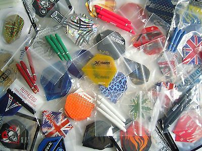 Special Offer 30 Dart Flights & 30 Dart Stems Mixed + Extra Free Accessory