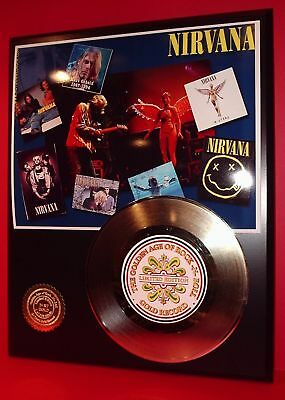 Nirvana Gold 45 Record Limited Edition Display