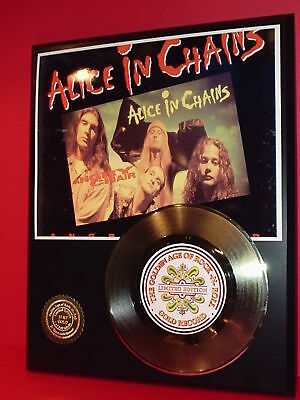 Alice In Chains Gold 45 Record Limited Edition Display