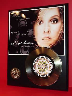 Celine Dion Gold 45 Record Limited Edition Display