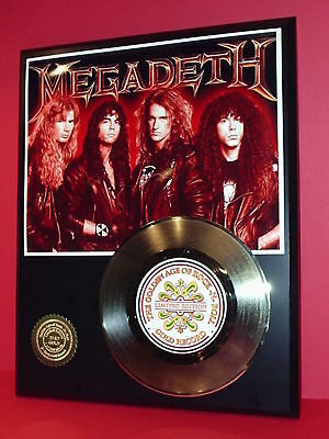 Megadeth Gold 45 Record Limited Edition Display