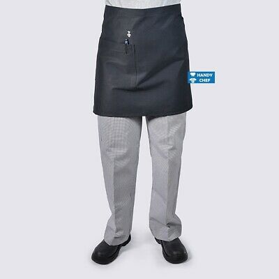 Chef Aprons Half Waist with Pocket  10 Pack - Black Aprons / White Aprons
