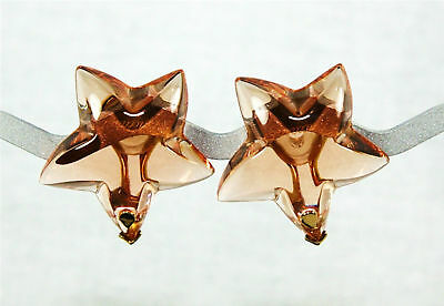 BACCARAT JEWELRY STARLET CLIP ON HONEY EARRINGS 18K SOLID GOLD NEW FRANCE
