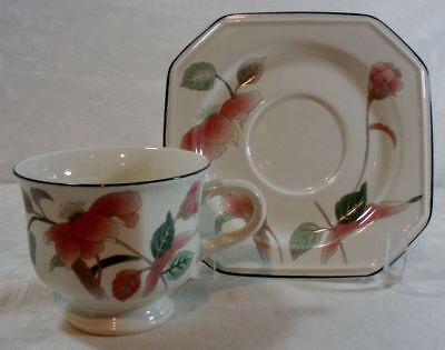 Mikasa Silk Flowers Cup and Saucer