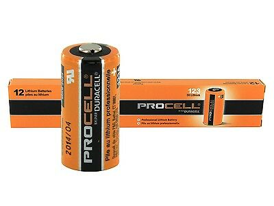 Duracell Procell Cr123A 123 123A Lithium Battery X 12