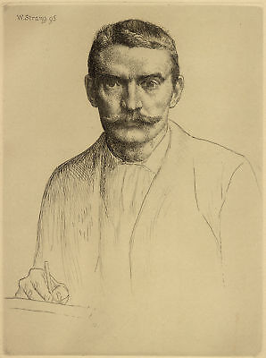 William Strang - Originalradierung Selbstportrait 1895