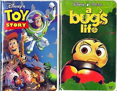 Toy Story (VHS, 1996) & A Bug's Life - 2 VHS Tapes