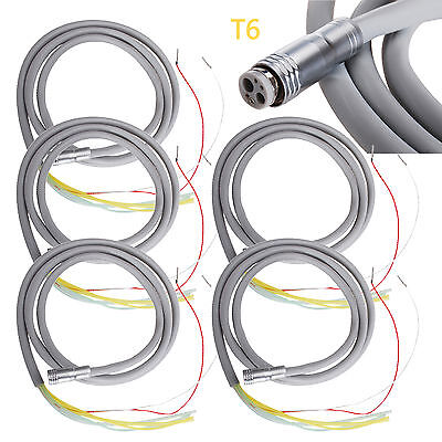 5* Dental Turbine Connecting Hose Tube Cable for High Low Speed Handpiece 6Hole