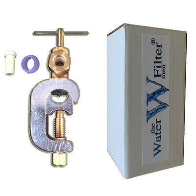 "Water Filters 1/4"" Tubing Feed Water Saddle Valve"
