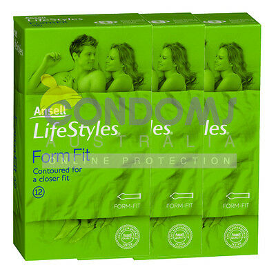 Ansell Lifestyles Form Fit Condoms (36) TRIPLE PACK