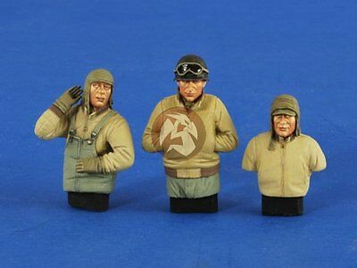 Verlinden 1/35 US Tankers in Wet / Cold Outfit WWII (3 Half-figures) 2587