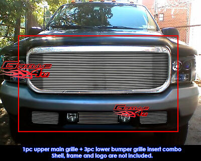 Fits Ford F-250/F-350/Excursion Billet Grille Combo 99-04