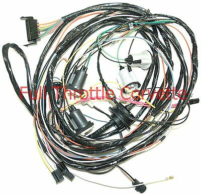 1975 Corvette Rear Body Wiring Harness Without Seatbelt Interlock System