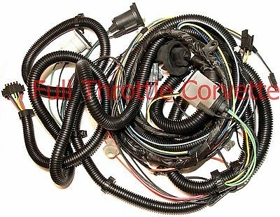 1982 Corvette Rear Body Wiring Harness Without Rear Window Defrost Option