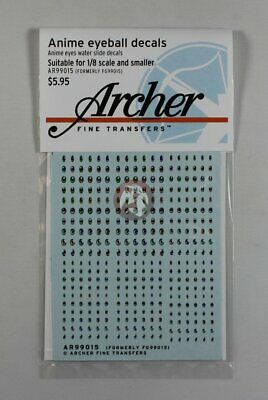 Archer Anime Eyeball Decals #1 (1/12 to 1/8 scale) AR99015