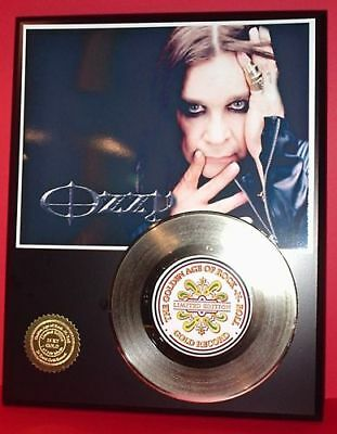 Ozzy Osbourne 24k Gold Record Display Rare Limited Edition - Free USA Shipping