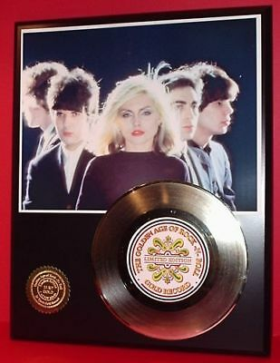 Blondie - 24k Gold Record Display Rare Limited Edition - Free USA Shipping