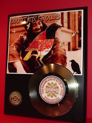 Counting Crows 24k Gold Record Display Rare Limited Edition - Free USA Shipping