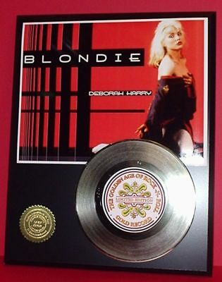 Deborah Harry Blondie - 24k Gold Record Display Limited Edition - USA Ships Free