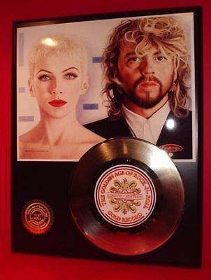 Eurythmics - 24k Gold Record Display Limited Edition - Free Shipping In The USA