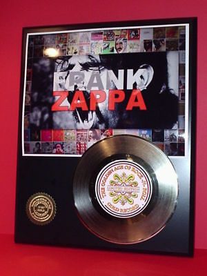 Frank Zappa 24k Gold Record Display Rare Limited Edition - Free Shipping In USA