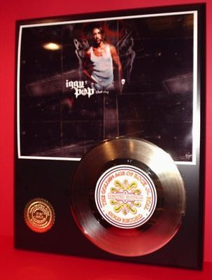 Iggy Pop - 24k Gold Record Display Rare Limited Edition - Free USA Shipping