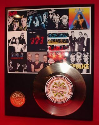 The Police 24k Gold Record Display Rare Limited Edition Free Shipping In The USA