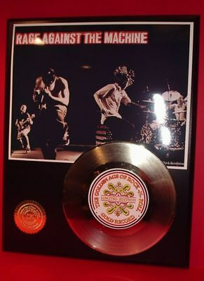 Rage Against The Machine - 24k Gold Record Rare Limited Edition - USA Ships Free
