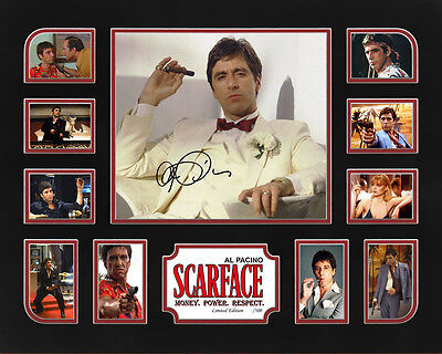 """NEW..""""SCARFACE"""" MOVIES SIGNED MEMORABILIA FRAMED , LIMITED EDITION TO 500 w/ COA"""