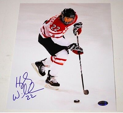 Hayley Wickenheiser Signed 16x20 Photo Skate with Puck