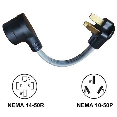 Marine 30 Amp Female to 15 Amp Male 125v Shore Power Pigtail Boat 5-15P Adapter
