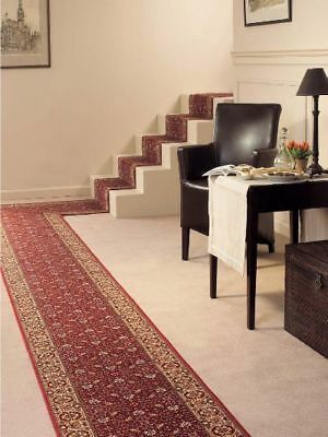 Hallway Runner Hall Rug Cardina Rubber backed BIDJAR Red Runner 67cm wide $20pm