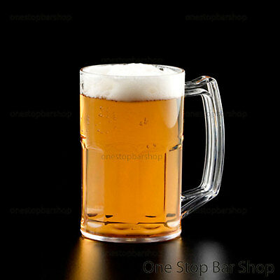 Schooner Handled Beer Glass 425ml Polycarbonate